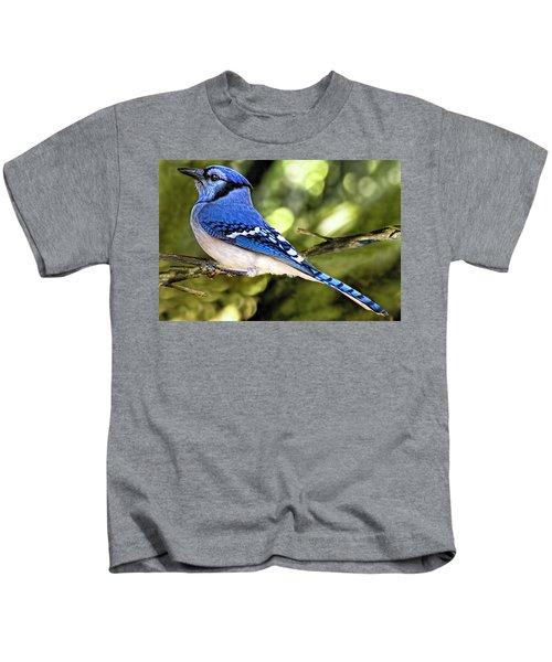 Blue Jay Bokeh Kids T-Shirt