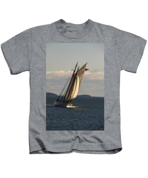 American Eagle In A Good Wind Kids T-Shirt