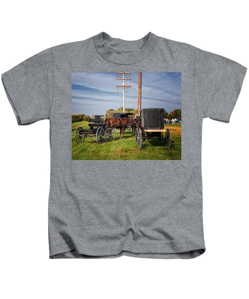 Amish At The Auction Kids T-Shirt