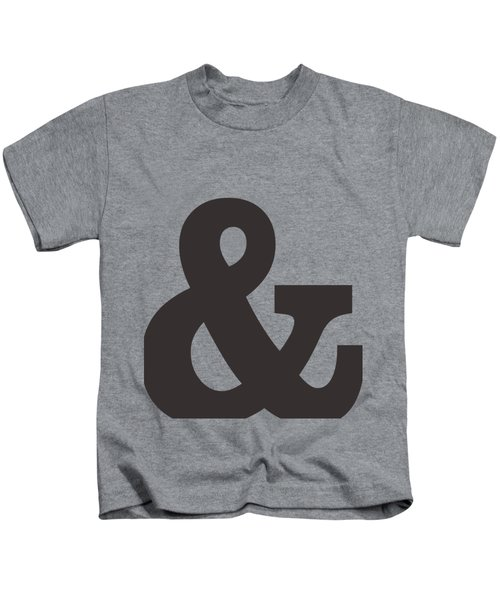 Ampersand - And Symbol 3 - Minimalist Print Kids T-Shirt