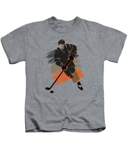 Anaheim Ducks Player Shirt Kids T-Shirt by Joe Hamilton