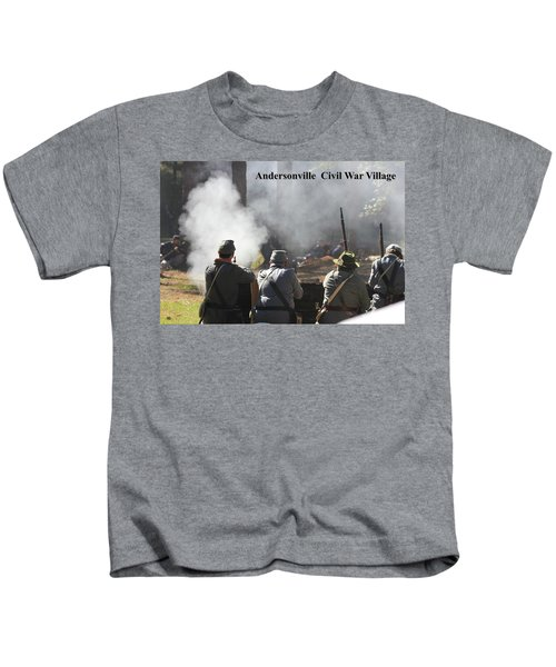 Andersonville Civil War Village Kids T-Shirt
