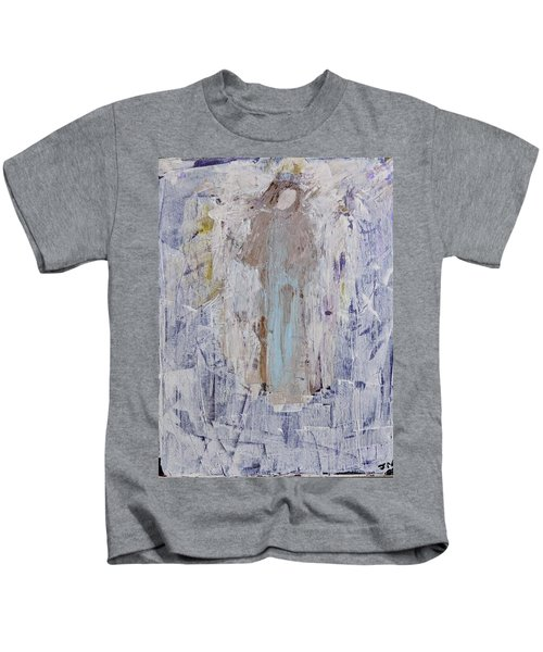 Angel With Her Horse Kids T-Shirt