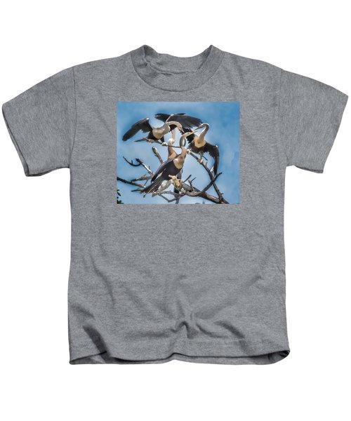 Anhinga Feeding Time Kids T-Shirt