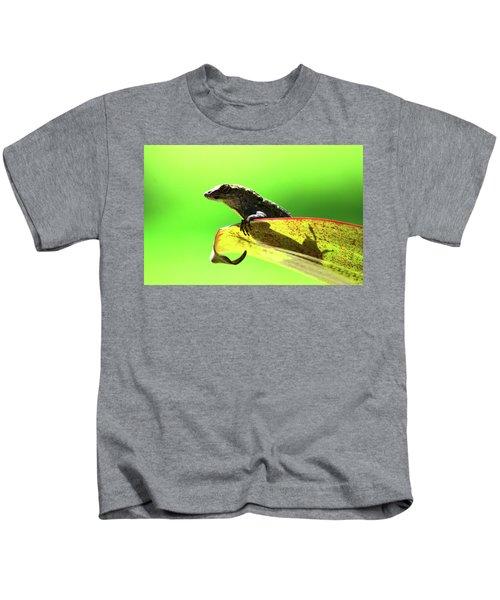 Anole In Green Kids T-Shirt