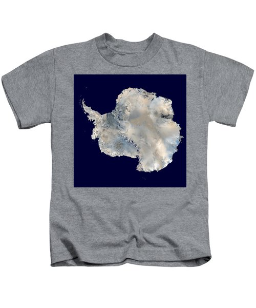 Antarctica From Blue Marble Kids T-Shirt