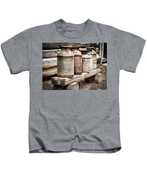 Antique Milk Cans Kids T-Shirt