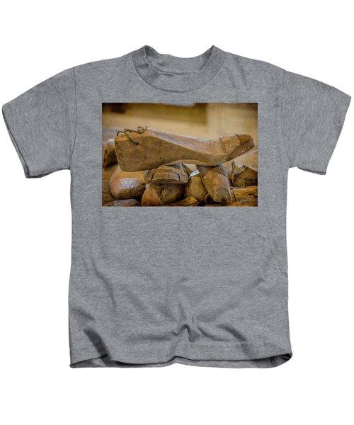 Antique Wooden Shoe Forms - 2 Kids T-Shirt