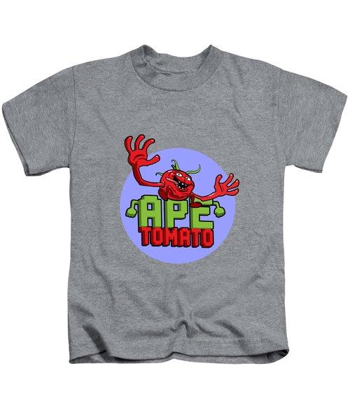 Ape Tomato Blue Purple Kids T-Shirt by Nicolas Palmer