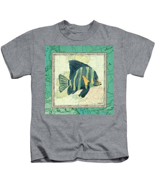 Aqua Maritime Fish Kids T-Shirt