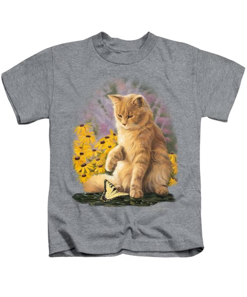 Archibald And Friend Kids T-Shirt by Lucie Bilodeau