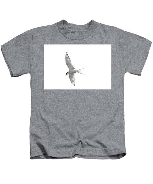 Arctic Tern Flying In Mist Kids T-Shirt