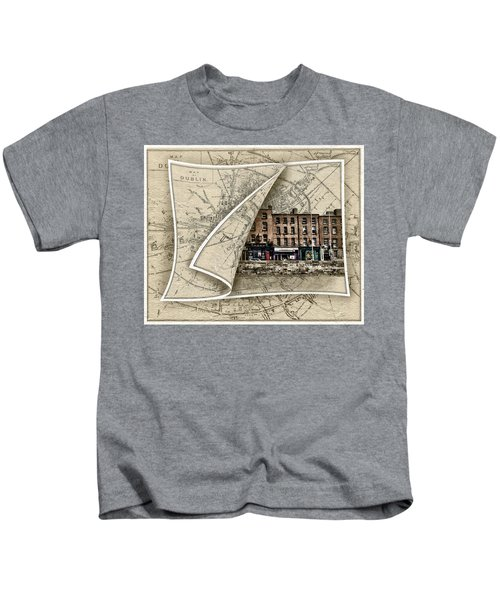 Arran Quay Dublin Map Kids T-Shirt