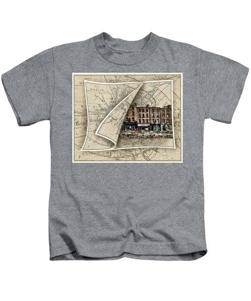 Arran Quay Dublin Map Kids T-Shirt