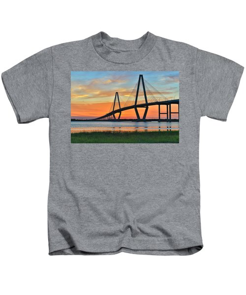 Arthur Ravenel Jr. Bridge At Dusk - Charleston Sc Kids T-Shirt
