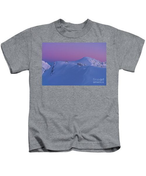 Artists Point Dusk Snowscape Kids T-Shirt