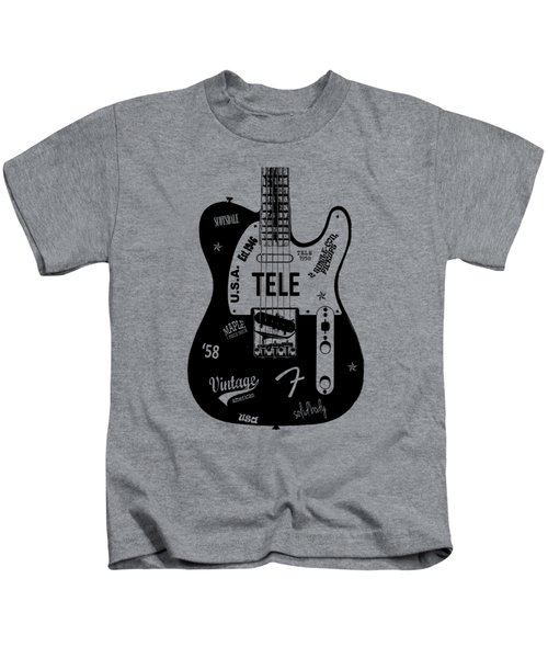 Fender Telecaster 58 Kids T-Shirt by Mark Rogan