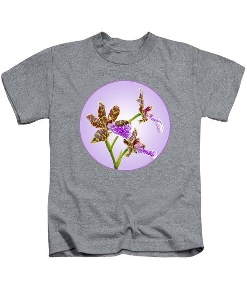 Bold And Beautiful - Zygopetalum Orchid Kids T-Shirt