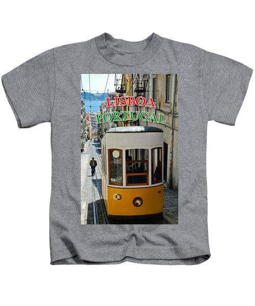 Lisbon - Portugal - Elevador Da Bica Kids T-Shirt