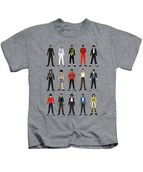 Outfits Of Michael Jackson Kids T-Shirt by Notsniw Art