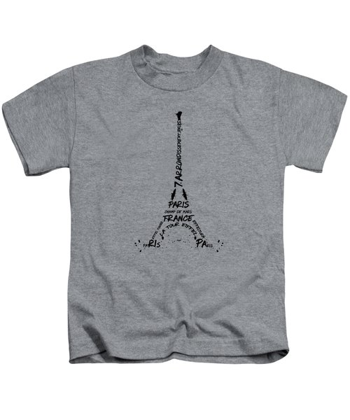 Digital Art Eiffel Tower Pattern Kids T-Shirt