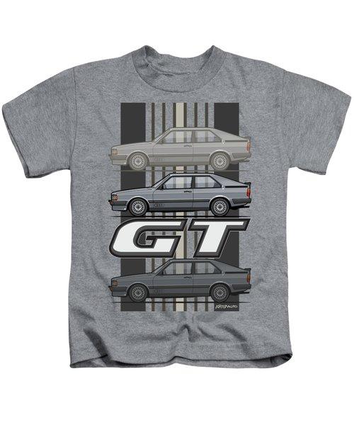 Four Rings Coupe Gt B2 Stone Grey Metallic Kids T-Shirt