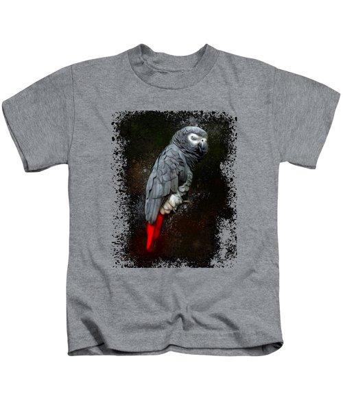 African Grey Parrot  Kids T-Shirt