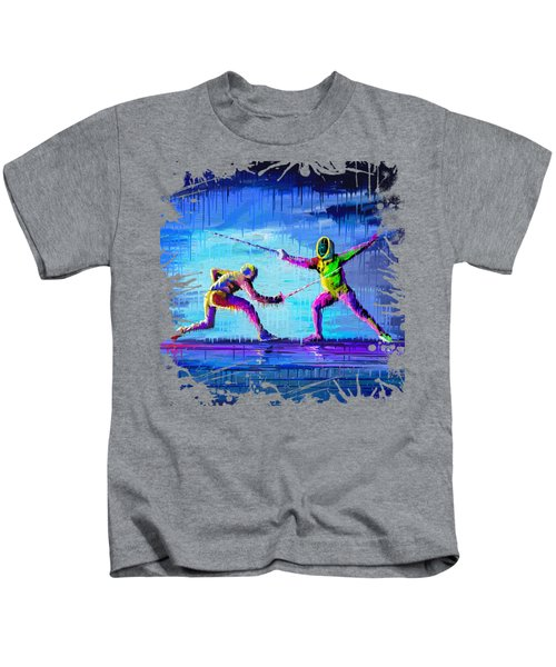 Sword Sparring Painting Kids T-Shirt