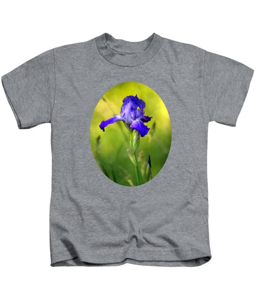 Violet Iris Kids T-Shirt by Christina Rollo