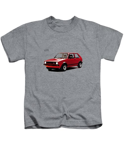 Vw Golf Gti 1976 Kids T-Shirt by Mark Rogan