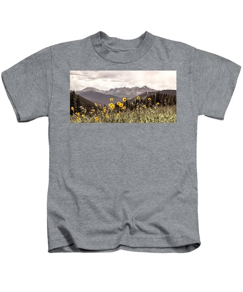 Sunflowers And Mount Of The Holy Cross Kids T-Shirt