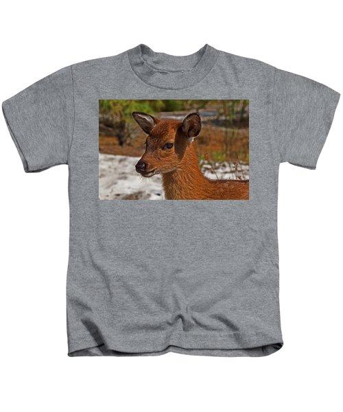 Assateague Island Sika Deer Fawn Kids T-Shirt