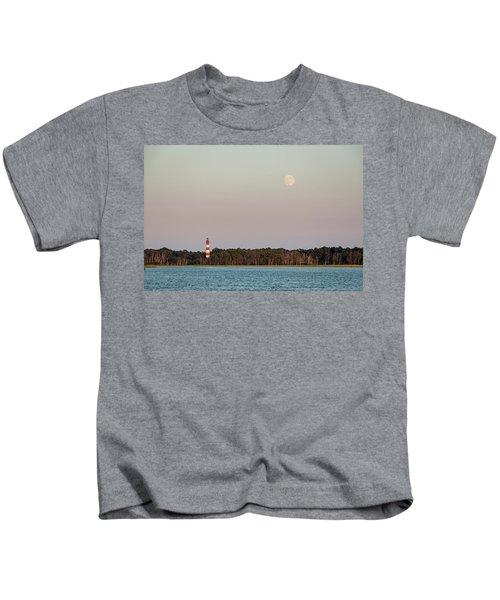 Assateague Light And The Full Moon Kids T-Shirt