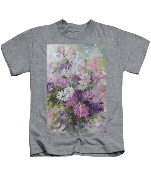 Asters And Stocks Kids T-Shirt