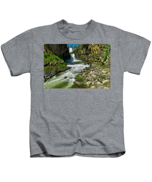 At The Bottom Of White River Falls Kids T-Shirt