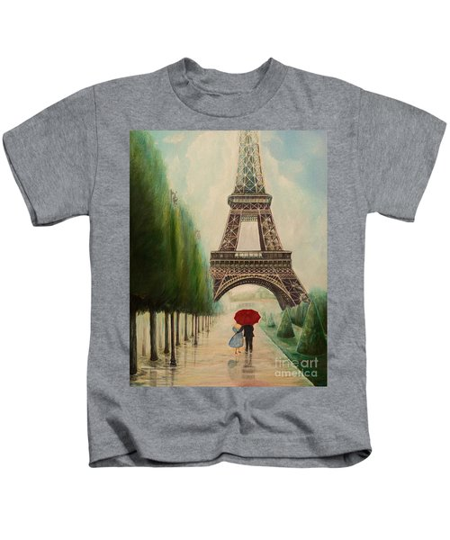 At The Eiffel Tower Kids T-Shirt