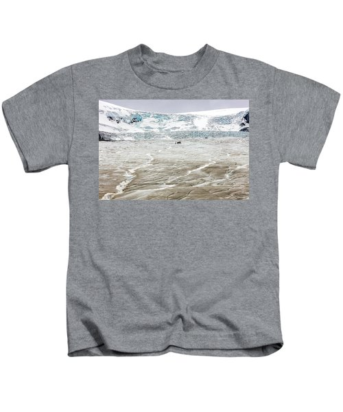Athabasca Glacier With Guided Expedition Kids T-Shirt