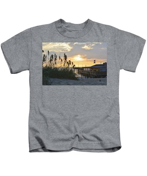 August Sunrise On The Obx  Kids T-Shirt
