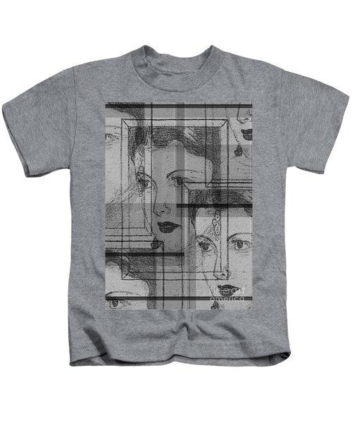 Aunt Edie Black And White Print Kids T-Shirt
