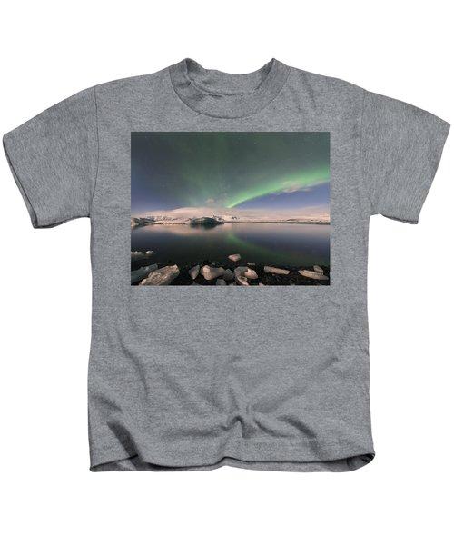 Aurora Borealis And Reflection Kids T-Shirt