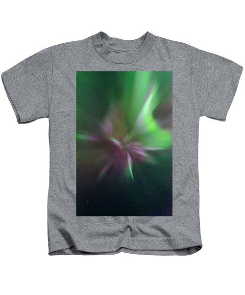 Aurora Borealis Corona Kids T-Shirt