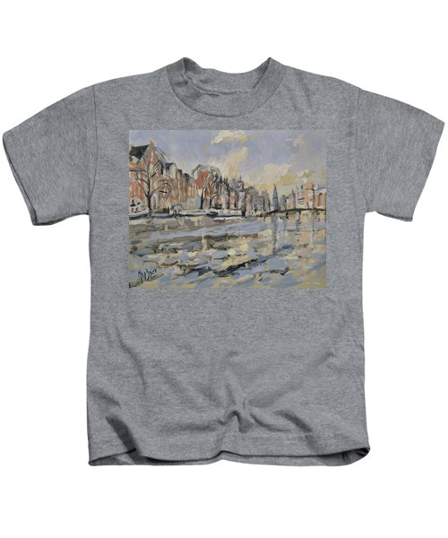 Autumn Along The Amstel In Amsterdam Kids T-Shirt