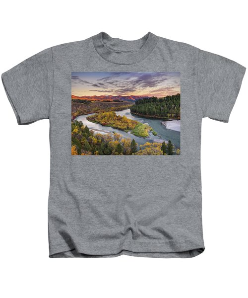 Autumn Along The Snake River Kids T-Shirt