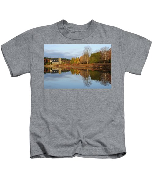 Autumn At The Old Stone Church Kids T-Shirt