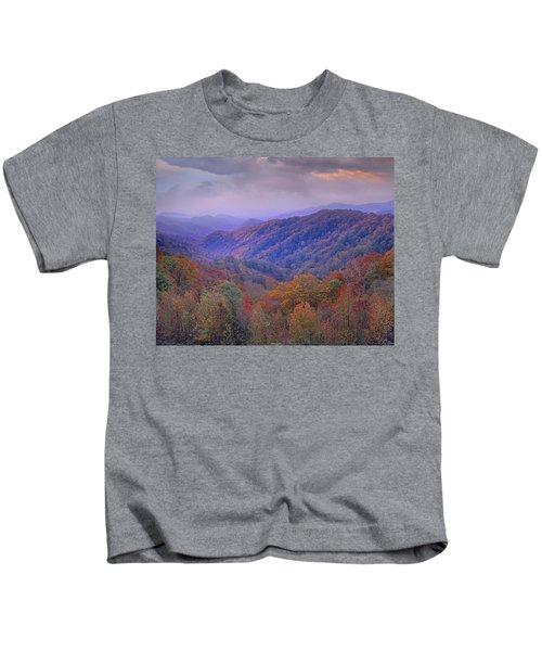 Autumn Deciduous Forest Great Smoky Kids T-Shirt
