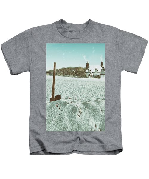 Axe In The Snow Kids T-Shirt