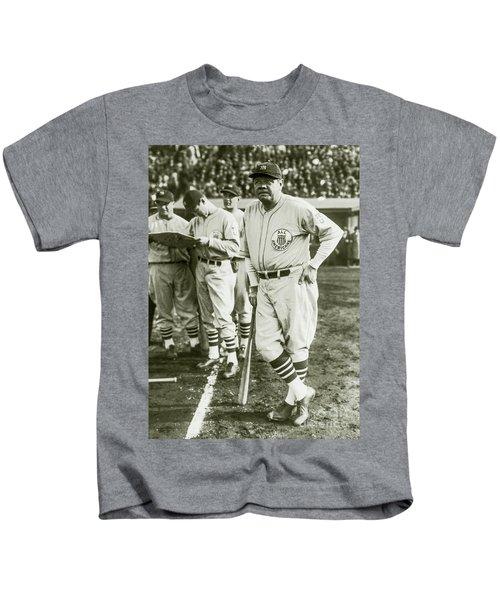 Babe Ruth All Stars Kids T-Shirt by Jon Neidert