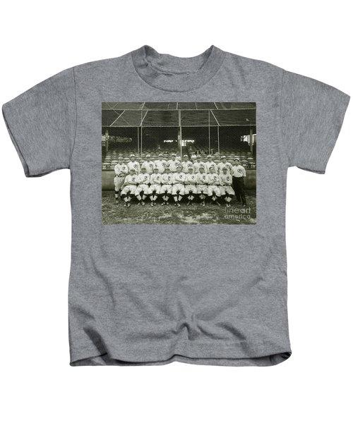 Babe Ruth Providence Grays Team Photo Kids T-Shirt by Jon Neidert