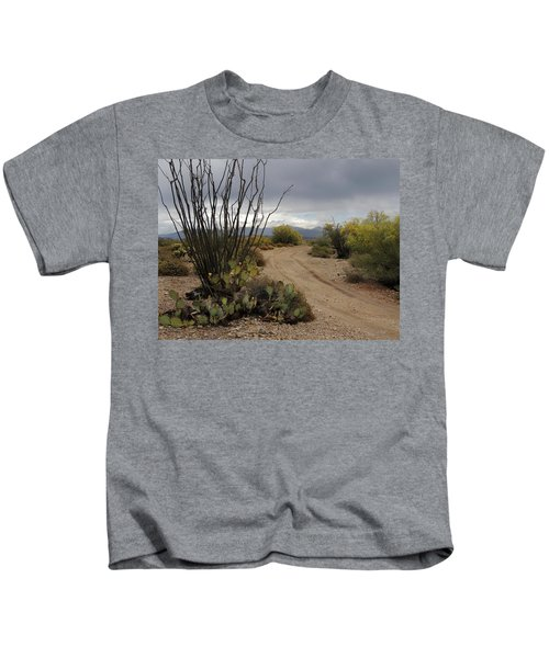 Back Road, Arizona Kids T-Shirt