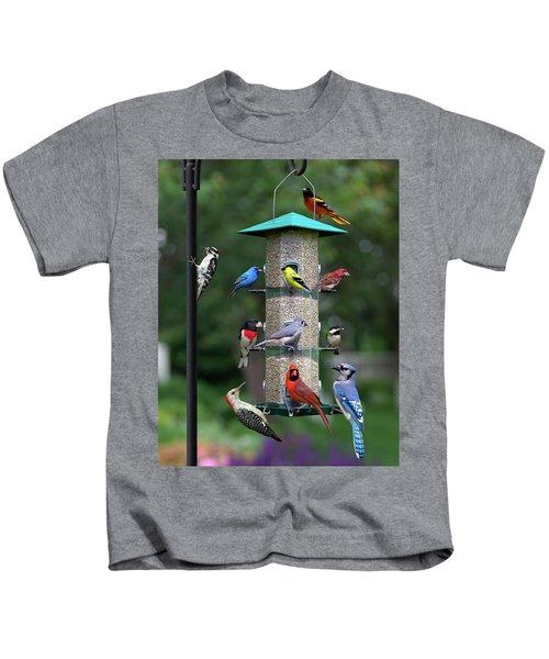 Backyard Bird Feeder Kids T-Shirt